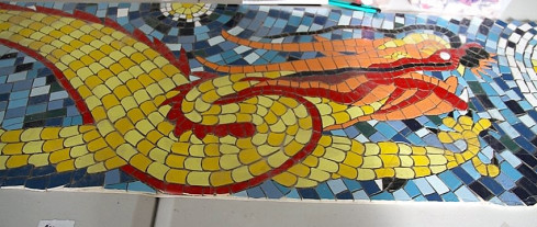 Starry Night Dragon, Mosaic Chair, Blacktown Hospital